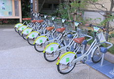 Bicycle for hire Kanazawa Japan Royalty Free Stock Photos