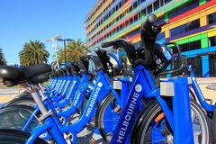 Bicycle hire Melbourne Australia Stock Images