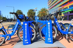 Bicycle hire Melbourne Royalty Free Stock Photo
