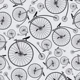 Bicycle historic pattern  Royalty Free Stock Photo