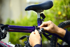 Bicycle holder for a car Stock Photos
