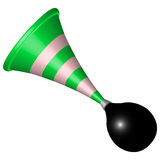 Bicycle horn. Icon against white background, abstract vector art illustration Royalty Free Stock Photography