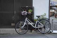 A bicycle at house in Kyoto Japan