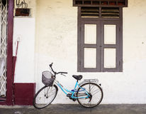 A bicycle at the house in Taipei, Taiwan.  Royalty Free Stock Photos