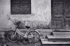 Bicycle and House Vietnam Royalty Free Stock Image