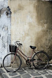 Bicycle and House Vietnam Royalty Free Stock Photography