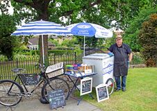 Bicycle Ice Cream Vendor Seller Stock Image