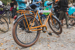 Bicycle at the Ice Ride 2014 in Milan, Italy Stock Photos