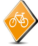 Bicycle icon. Vector illustration button of a bicycle - 3d stock illustration