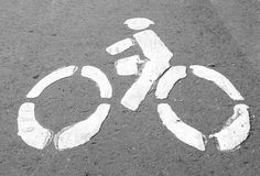 Bicycle icon Stock Images