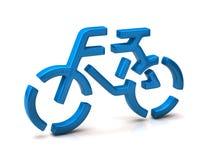 Bicycle icon. Isolated on white background royalty free illustration