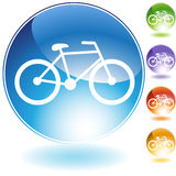 Bicycle Icon. In multiple colors stock illustration