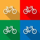 Bicycle icon great for any use. Vector EPS10. Stock Images