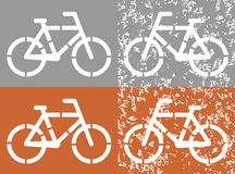 Bicycle icon on grunge background Stock Photo