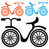 Bicycle icon isolated on a white Stock Images