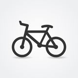 Bicycle icon. Minimalistic simple bicycle icon. Vector royalty free illustration