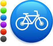 Bicycle icon on round internet button royalty free illustration