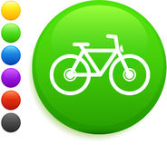 Bicycle icon on round internet button Royalty Free Stock Image