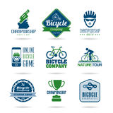 Bicycle icon set - 3 Stock Photo