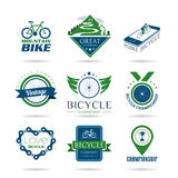 Bicycle icon set - 2 Royalty Free Stock Image