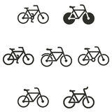 Bicycle icon set. Bicycle vector icons set. Black illustration isolated on white background for graphic and web design Vector Illustration