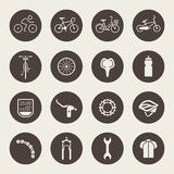 Bicycle icon set Stock Image