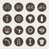 Bicycle icon set Stock Image