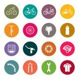 Bicycle icon set Royalty Free Stock Photos