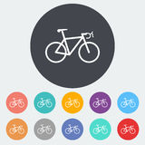 Bicycle icon. Bicycle. Single flat icon on the circle. Vector illustration royalty free illustration