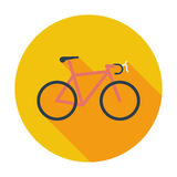 Bicycle icon. Single flat color icon. Vector illustration stock illustration