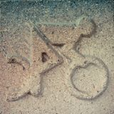 Bicycle. Icon sport backqroud brack Royalty Free Stock Photography