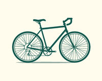 Bicycle icon. Vector illustration of a touring bicycle made in flat style. Vector bike icon Stock Image