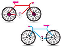 Bicycle. The bicycle icon vector on white background Stock Photo