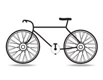 Bicycle. The bicycle icon vector on white background Stock Photography