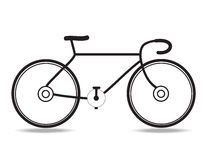 Bicycle. The bicycle icon vector on white background Stock Photos