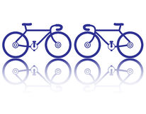 Bicycle. The bicycle icon vector on white background Stock Image