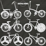 Bicycle icons on chalk Royalty Free Stock Photo
