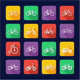 Bicycle Icons Flat Design Royalty Free Stock Images