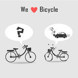 Bicycle icons with grey background Stock Photo