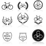 Bicycle icons Royalty Free Stock Photos