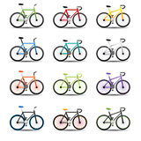 Bicycle icons. This image is a vector illustration. Bicycle icons Royalty Free Stock Photography