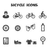 Bicycle icons stock illustration