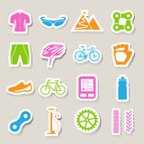 Bicycle icons set Royalty Free Stock Image