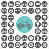 Bicycle icons set. Royalty Free Stock Photography
