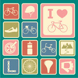 Bicycle icons Stock Photography