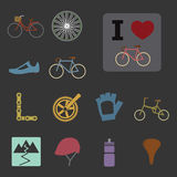 Bicycle icons Royalty Free Stock Photo