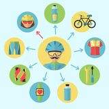 Bicycle icons set Royalty Free Stock Photos