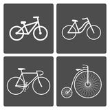 Bicycle icons. Vector illustration set of different bike icons Vector Illustration