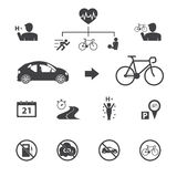 Bicycle icons Stock Images