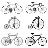 Bicycle icons Stock Photos